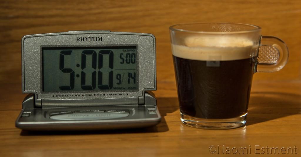 Nespresso with Alarm Clock