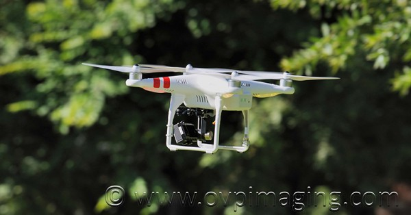 Aerial drone with video camera
