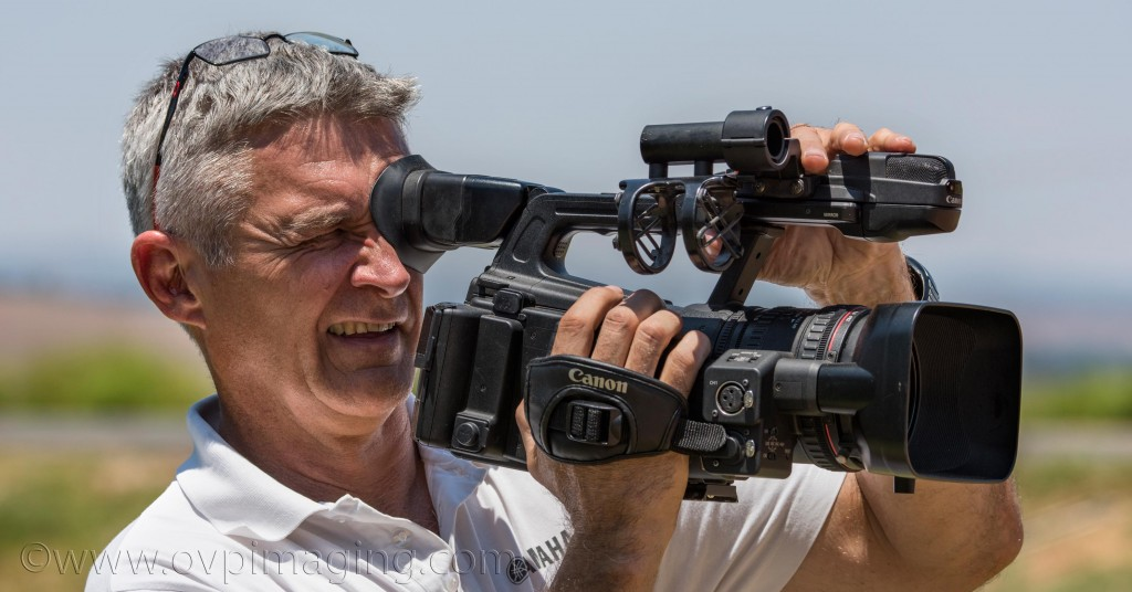 Dave Estment with Canon Video Camera