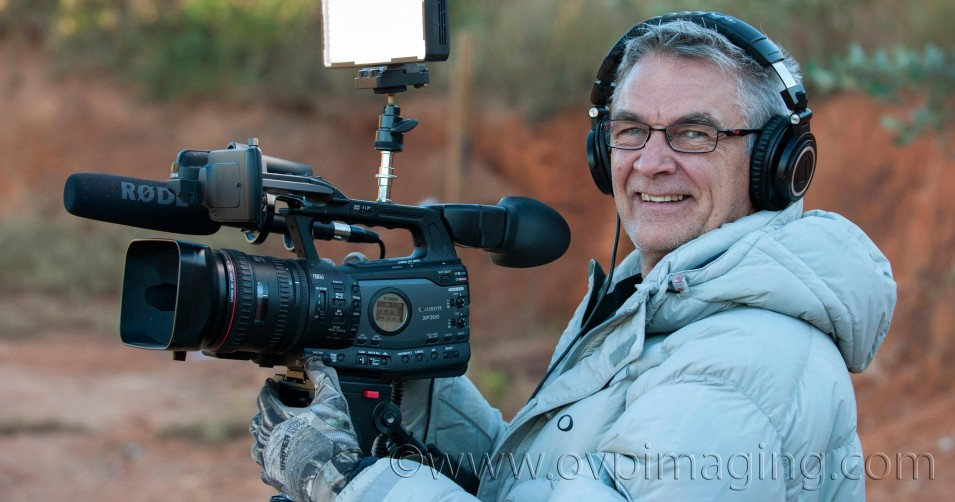 Dave Estment Videographer with XF300 Camera