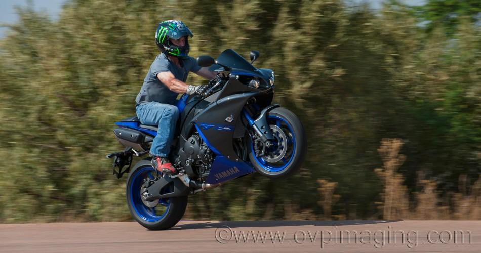 Yamaha R1 wheelie by Dave Estment