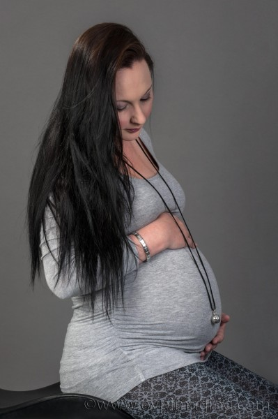 Beautiful portrait of pregnant lady